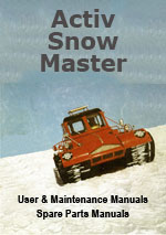 Aktiv Snow Master Workshop Repair Manual, User Manual and Parts Manual Package