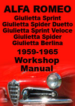 Alfa Romeo Giulia, Giuliette, Spider, Sprint, GT and GTA 1959-1968 Workshop Manual