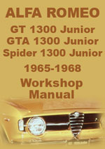 Alfa Romeo GT1300, GTA1300 & Spider 1300 Junior Workshop Repair Manual