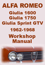 Alfa Romeo Giulia 1962-1968 Workshop Repair Manual