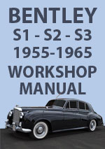 Bentley S1, S2, S3, and Continental Workshop Manual