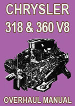 Chrysler Hemi V8 318ci and 360ci Engine Overhaul Manual