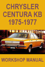 Chrysler Centura KB Workshop Repair Manual