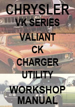 Chrysler Valiant VK, CK, Charger Workshop Repair Manual