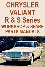 Chrysler Valiant R Series & S Series Workshop Repair Manual