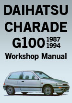 Daihatsu Charade G100, 1987-1994 Workshop Repair Manual