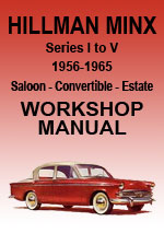 Hillman Minx Series 1-5 Workshop Repair Manual
