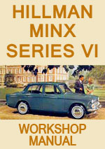 Hillman Minx Series VI 1965-1967 Workshop Repair Manual