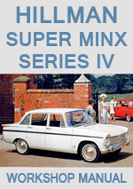 Hillman Super Minx Series IV 1965-1967 Workshop Repair Manual