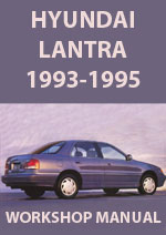 Hyundai Lantra 1.6 and 1.8 1993-1995 Workshop Service Repair Manual Download pdf