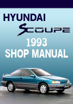 Hyundai S-Coupe 1993 Workshop Repair Manual