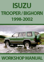 Isuzu Trooper and Bighorn 1998-2002 Workshop Service Repair Manual