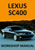 Lexus SC400 Workshop Repair Manual
