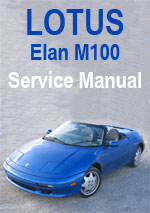Lotus Elan M100 Workshop Manual