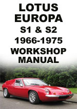 Lotus Europa Series 1 and 2 Workshop Manual