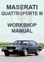 Maserati Quattroporte III 1981-1994 Workshop repair Manual