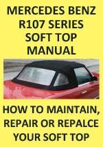 Mercedes Benz R107 Series Soft Top Replacement Workshop Repair Manual Download PDF