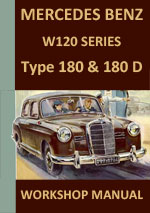 Mercedes Benz W120 180 and 180D Workshop Repair Manual
