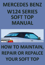 Mercedes Benz W124 Series Convertible Soft Top Workshop Repair Manual Download PDF