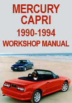 Mercury Capri 1990-1994 Workshop Repair Manual