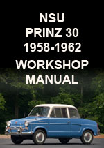 NSU Prinz 30 1958-1962 Workshop Service Repair Manual Download PDF