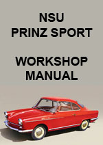 NSU Prinz Sports 1959-1962 Workshop Service Repair Manual Download PDF