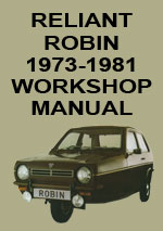 Reliant Robin Workshop Repair Manual 1973-1981