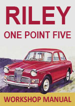 Riley One Point Five 1957-1965 Workshop Repair Manual