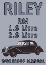 Riley RM Workshop Repair Manual 1945-1955