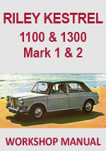 Riley Kestrel Workshop repair Manual