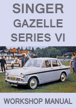 Singer Gazelle Series VI 1965-1967 Workshop Repair Manual