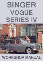 Singer Vogue Series IV Workshop Repair Manual 1954-1966