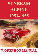 Sunbeam Alpine Mark 1 and Mark 3 1953-1955 Workshop Service Repair Manual Download pdf