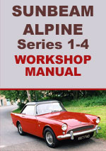 Sunbeam Alpine Series 1-4 Workshop Service Repair Manual