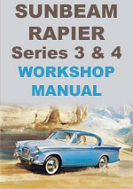 Sunbeam Rapier Series 3+4 Workshop Repair Manual