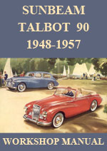 Sunbeam Talbot 90 Mark 2, Mark 2A, Mark 3, Saloon and Convertible Coupe 1948-1957 Workshop Service Repair Manual Download pdf.