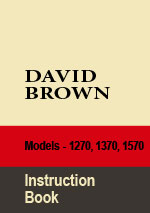 David Brown Tractor Series 1270, 1370, 1570 Workshop Repair Manual
