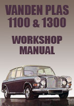 Vandan Plas Princess 1100 and 1300 Workshop Manual