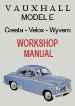 Vauxhall Model E, Cresta, Velox + Wyvern Workshop Repair Manual