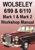 Wolseley 6/99 and 6/110 MkI and MkII Workshop Repair Manual