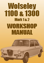 Wolseley 1100 and 1300 Workshop Repair Manual