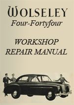 Wolseley 4/44 Workshop Repair Manual